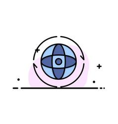 globe world earth atom connect business logo vector image