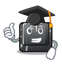 graduation button f12 isolated in character vector image