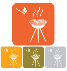 grilled kebab icon vector image