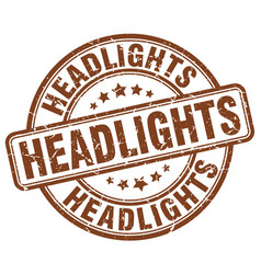 Headlights brown grunge stamp vector