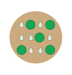 In flat design of rain with vector