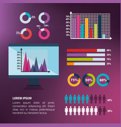Infographic template set icons vector