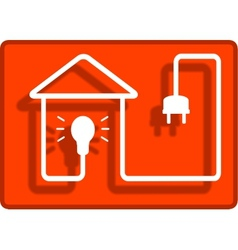 Lighting in the house symbol vector