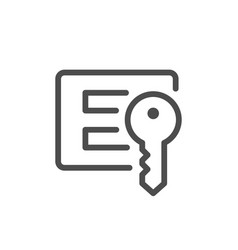 Login and password line icon vector