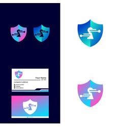 Logo shield technology vector