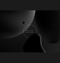 minimalistic black modern abstract space vector image