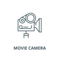 movie camera line icon linear concept vector image