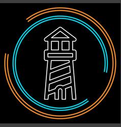navigation sea tower icon - lighthouse vector image