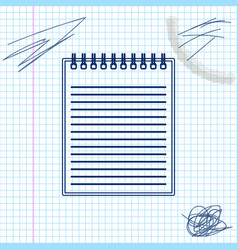 notebook line sketch icon isolated on white vector image