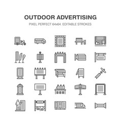outdoor advertising commercial marketing flat vector image