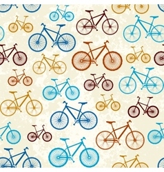 Pattern of bicycles vector image