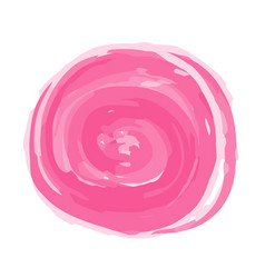 pink watercolor circles on white background vector image