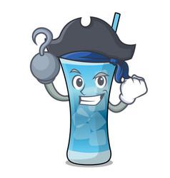 Pirate blue hawaii character cartoon vector