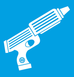 Plastic gun toy icon white vector