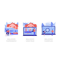 Real estate listing services abstract concept vector