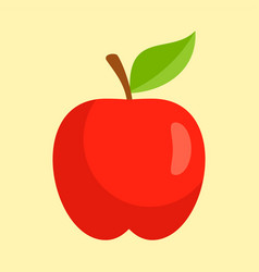 red apple icon flat style vector image