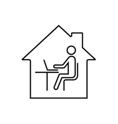 remote work online office from home vector image