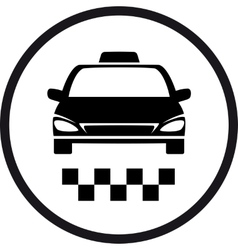 Round taxi sign vector