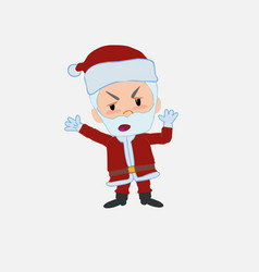 Santa claus argues something with a gesture of vector