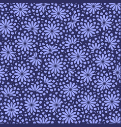 seamless abstract floral pattern in bright purple vector image