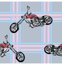Seamless background with sport motorcycle vector