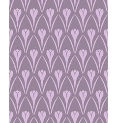 Seamless floral pattern Crocus vintage background vector