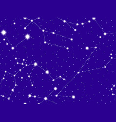 seamless pattern starry sky with the vector image
