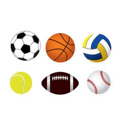 set balls vector image