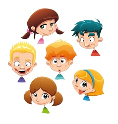 set different character expressions vector image