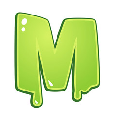 Slimy font type letter m vector