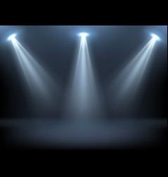 stage illuminated spotlights vector image
