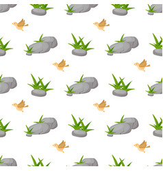 Stone rock seamless pattern nature architecture vector