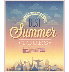 summer tours vector image
