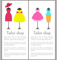 tailor shop pages collection vector image