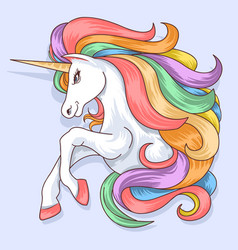 unicorn beautiful l color vector image