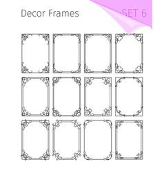 Vintage borders vignette frames vector