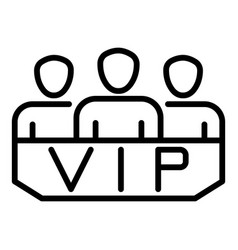Vip lodge icon outline style vector