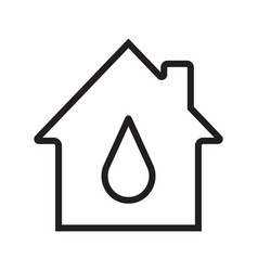 Water supply linear icon vector