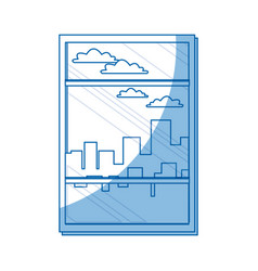 Window building urban skyline sky design vector