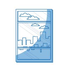 window building urban skyline sky design vector image