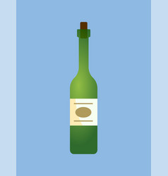 wine alcoholic beverage drink poured in liquid vector image