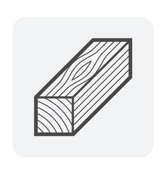 wood material icon vector image
