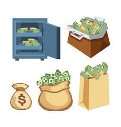 dollar paper business finance money stack symbols vector image vector image