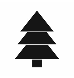 Fir tree icon black simple style vector image vector image