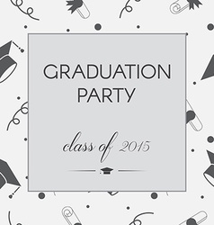 Graduation Invitation vector image vector image