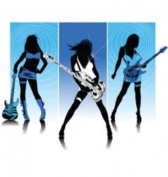 rock queen of night vector image vector image