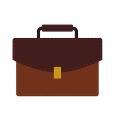suitcase brown bag office icon graphic vector image