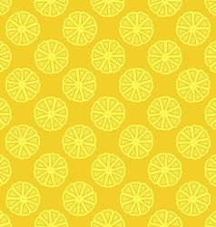 yellow lemon seamless pattern vector image vector image