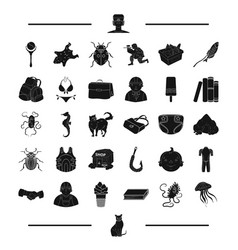 animal rest childhood and other web icon in vector image