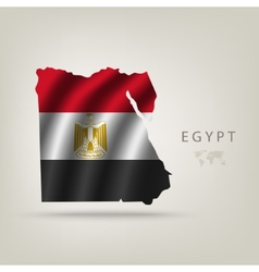 Flag of Egypt as a country vector image